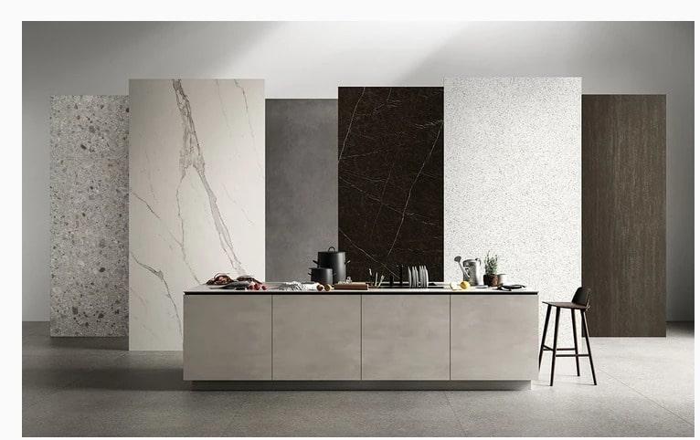 Lycos porcelain slab countertop